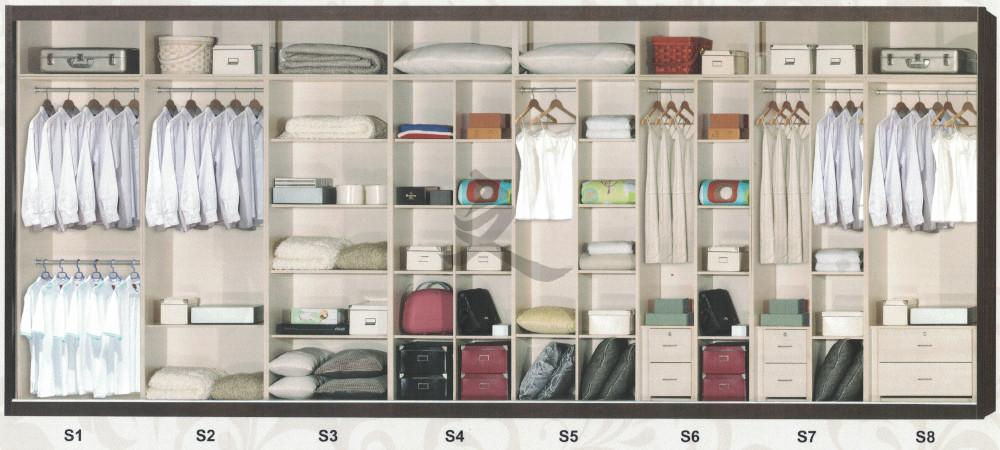 5ft Sliding Door Modular Wardrobe Cabinet Bedroom Customizable Mix and Match Compartment