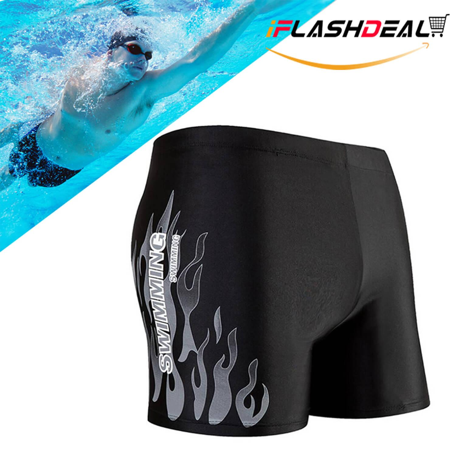 87432f0928 iFlashDeal Mens Swim Shorts Pants Swimwear Shorts Slim Wear Swimsuit