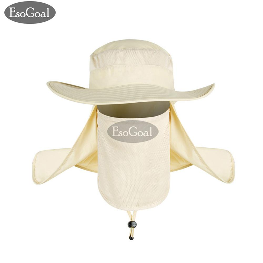 2f3bf1d1df3 EsoGoal Summer Sun Hat Protection Caps Flap 360°Outdoor Fishing Hat with  Removable Neck Face