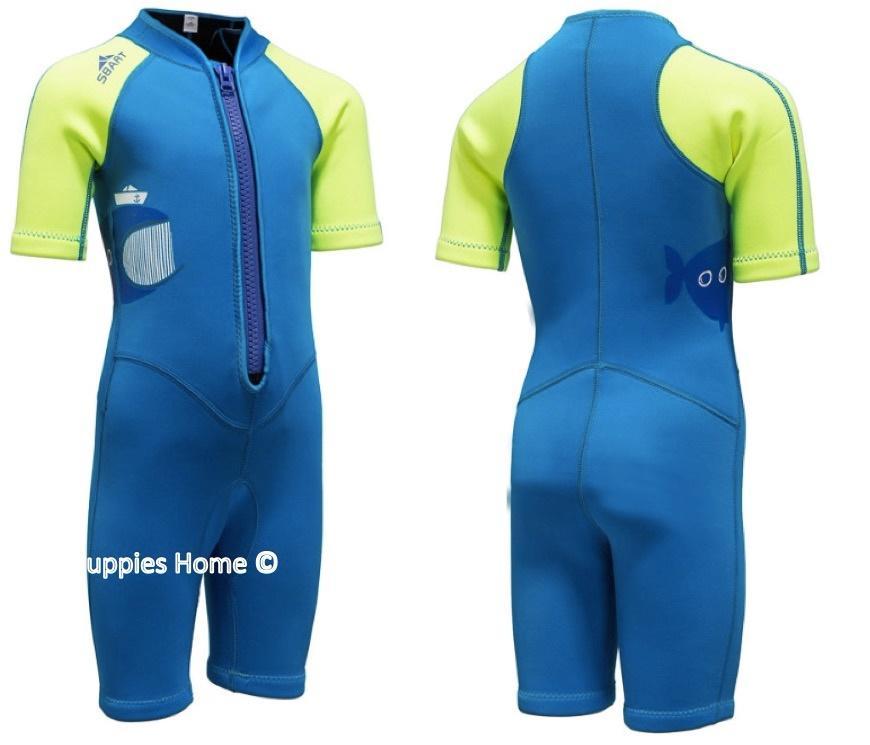 9643ba044 Kids Baby Thermal Swimwear Wetsuits UPF 50+ Snorkeling float Keep Warm  Swimsuits