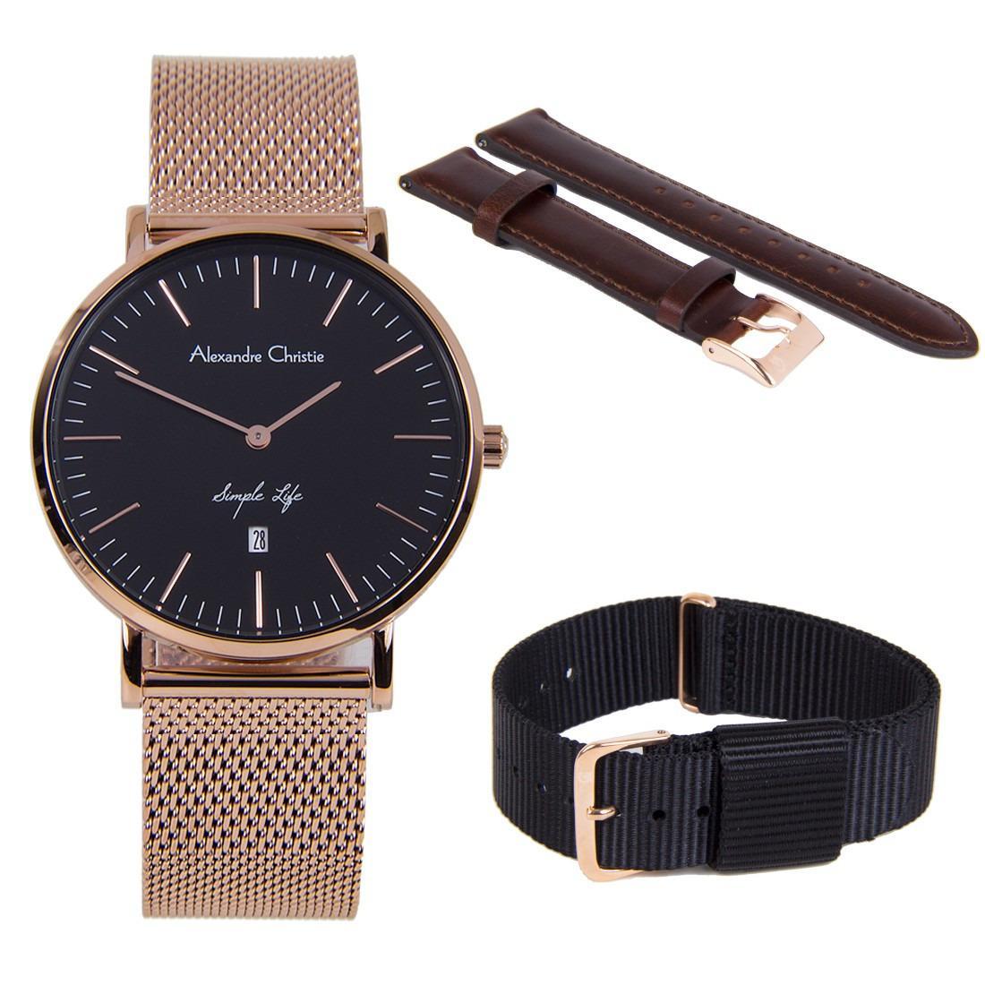 Latest Alexandre Christie Watches Products Enjoy Huge Discounts Ac 6410 Mc Steel Silver Black White Simple Life Women Watch 8566ldbrgba