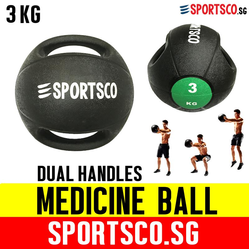 Sportsco 3kg Medicine Ball With Dual Grip (sg) By Sportsco Singapore.