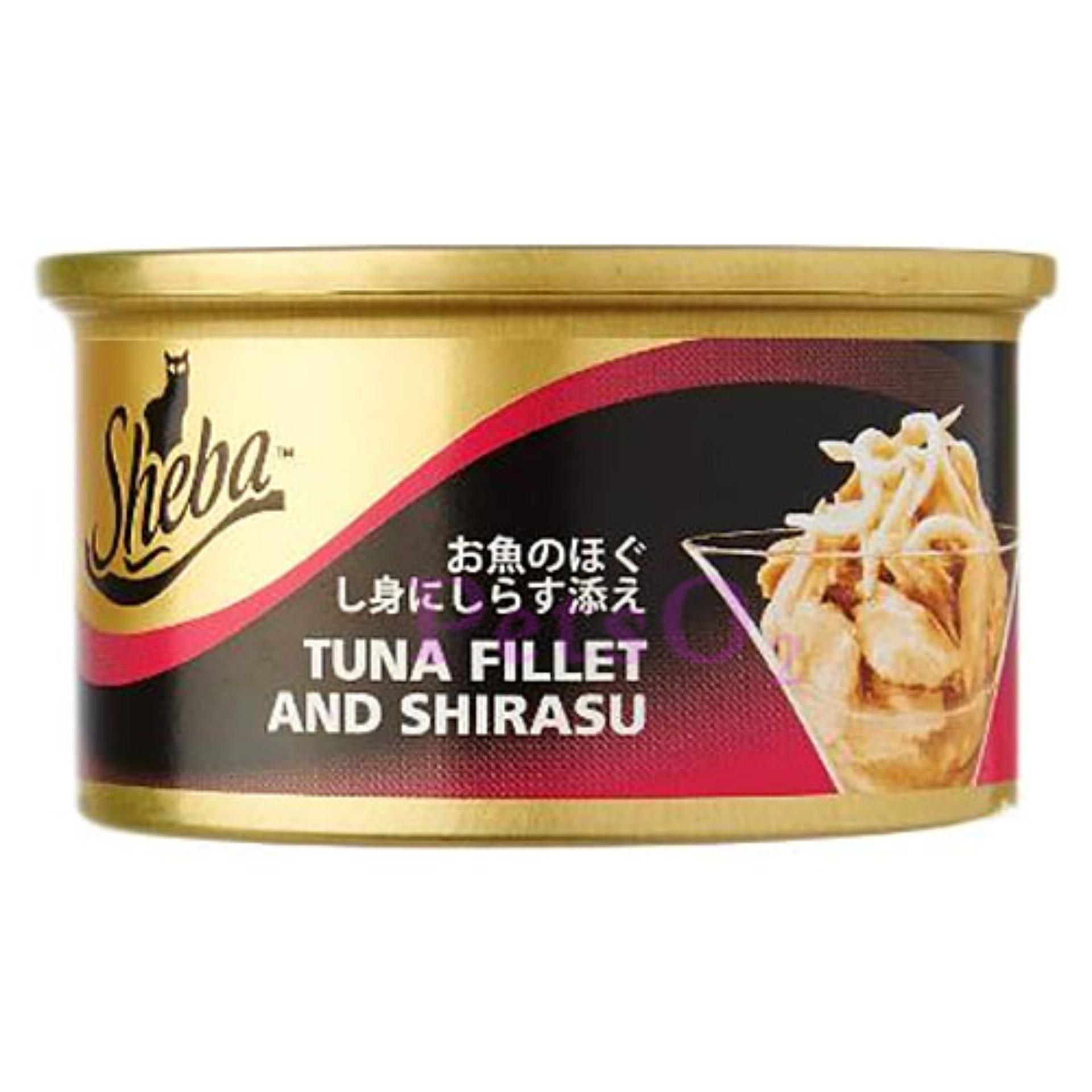Buy Sheba Tuna Shirasu 85G X24 Cans Online Singapore