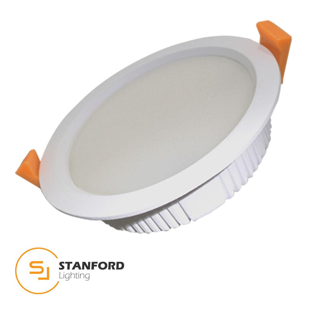 Stanford Powerplus LED Downlight Safety Mark Driver Extra Bright 12W 220-240V 120mm Round 4000K Cool White Non-Dim