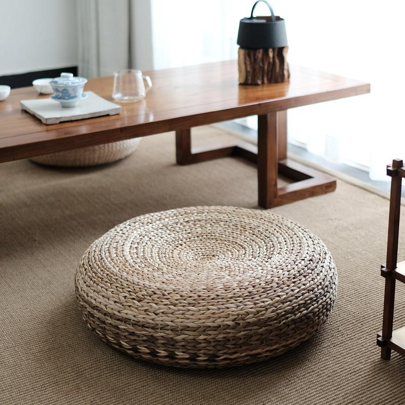 Japanese Style Straw Futon throw pillow Thickening Household Tea Ceremony Rattan Tatami Meditation Pad Floor Hay Mat