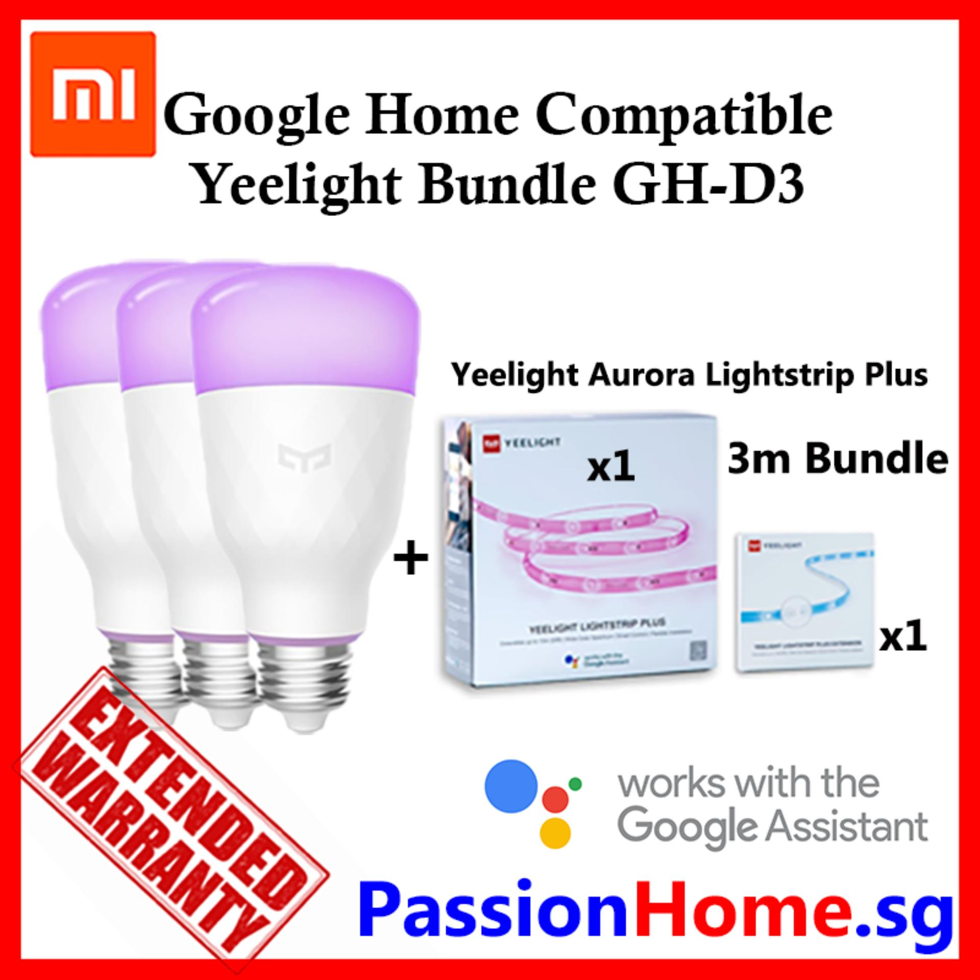 Google Home Compatible Yeelight Bundle GH-D3