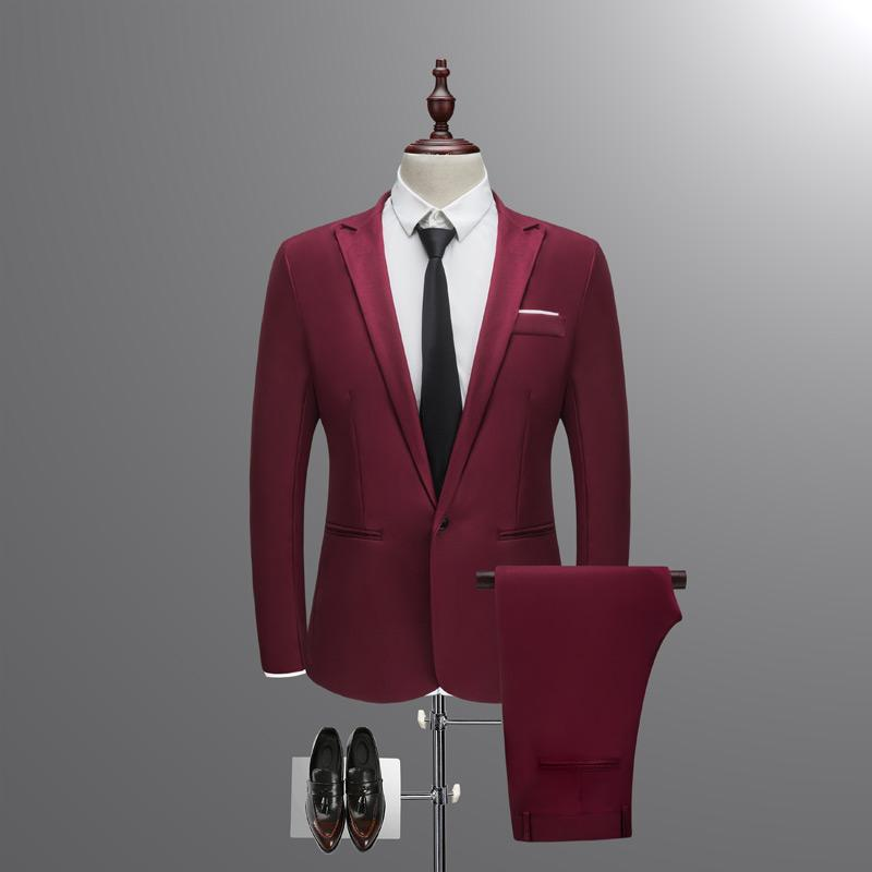 Two Pieces Suit Set Men Wedding Suits Groom Tuxedos Suit By Taobao Collection.