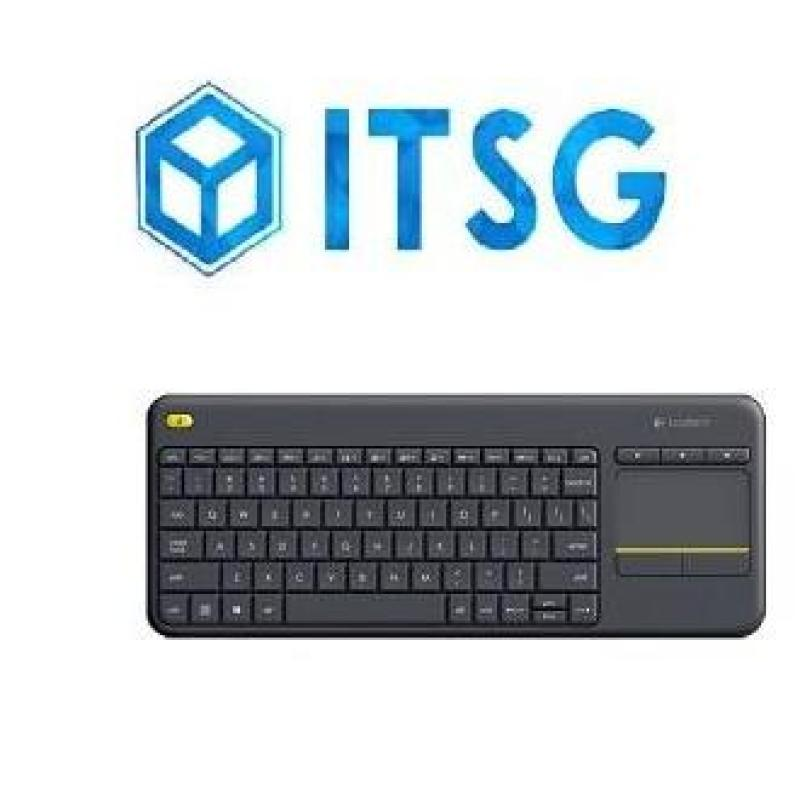 LOGITECH K400 PLUS WL TOUCH KEYBOARD (BLACK) (1Y) Singapore