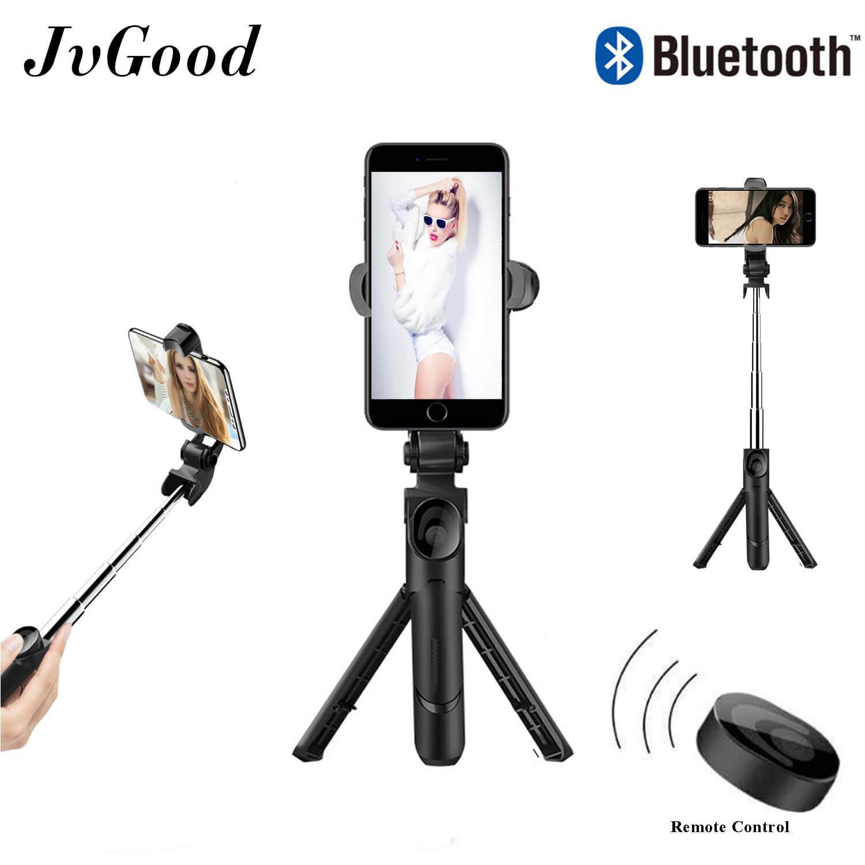 a7f6d35a5b9d10 JvGood Selfie Stick Bluetooth Extendable Monopod for Phones Remote Selfie  Stick Handheld Tripod Mount Extendable Selfie
