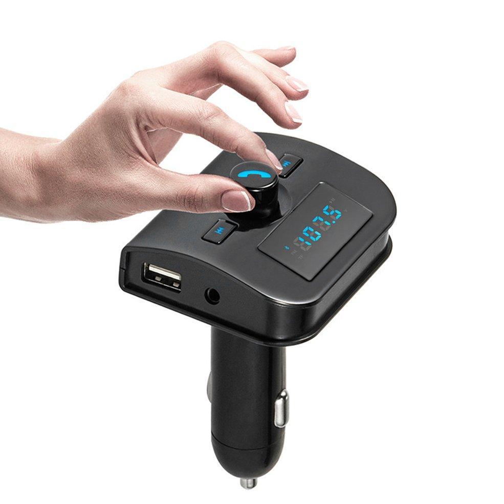 Dual Usb Auto Mp3 Player Blueto*th Adapter Hands-Free Car Kit Fm Transmitter