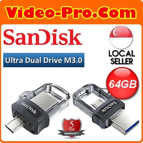 SanDisk Ultra Dual Drive m3.0 64GB USB 3.0 OTG Flash Drive SDDD3-064G46 Singapore