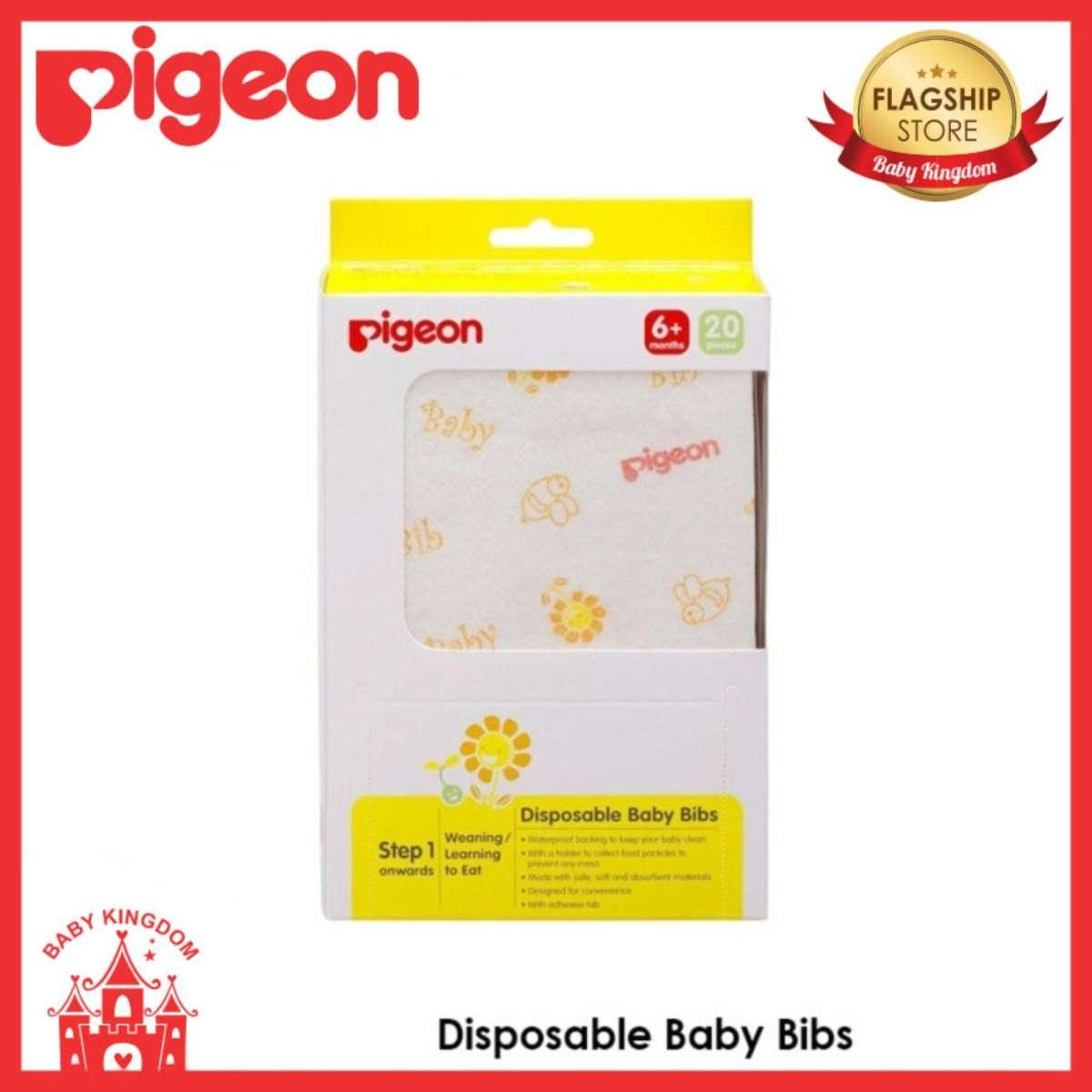 Pigeon Disposable Bibs By Baby Kingdom.
