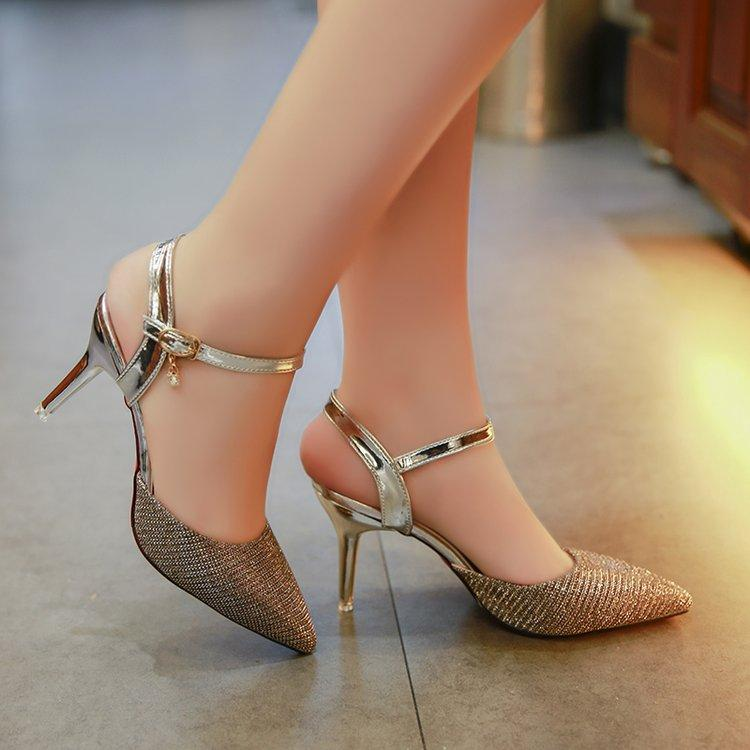 Sexy Sequin Thin Heeled After Sandals Stiletto Heels By Taobao Collection.