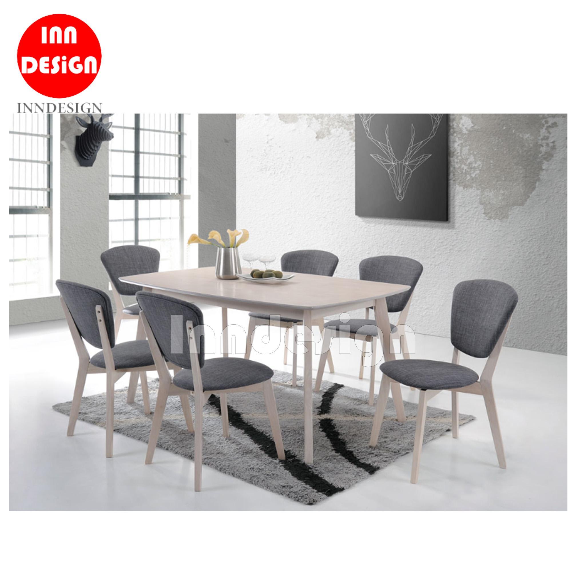 Zalo 1+6 Dining Table Set (L150cm)