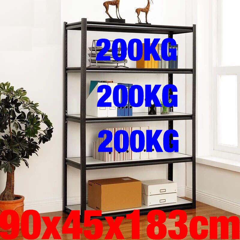 UMD Super heavy duty boltless bookshelf book shelf storage rack steel rack with height adjustable shelf (Refer to option pics for size choice, ignore the color family name, all same 1 color)