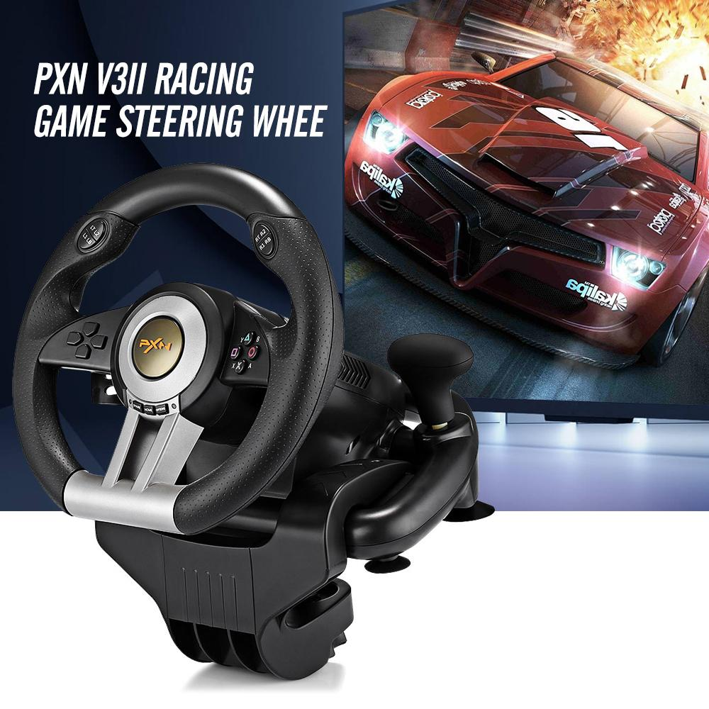 Original Pxn V3ii Llusiveness Usb Wired Vibration Motor Racing Games Steering Wheel Hand Brake Pedals For Pc Computer Racing Game Pk V18s By Aimeey.