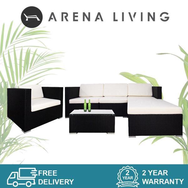 Arena Living Summer Outdoor Modular Sofa Set II White Cushions