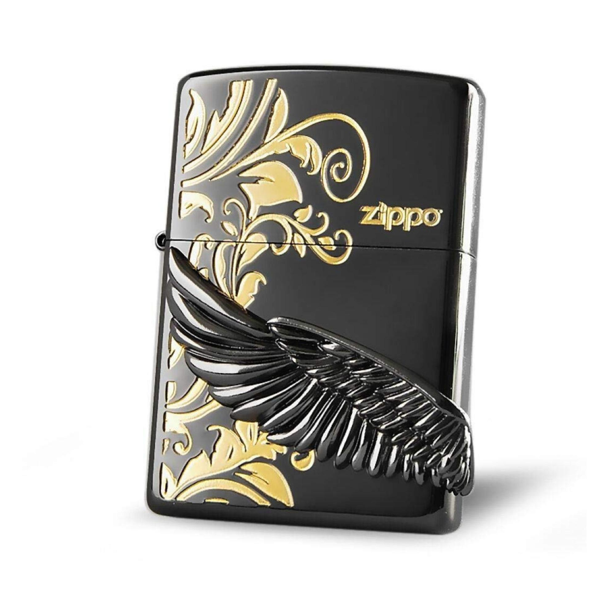 Zippo Buy At Best Price In Singapore Gold Ice Angel Wings Black Zbt 2 45b