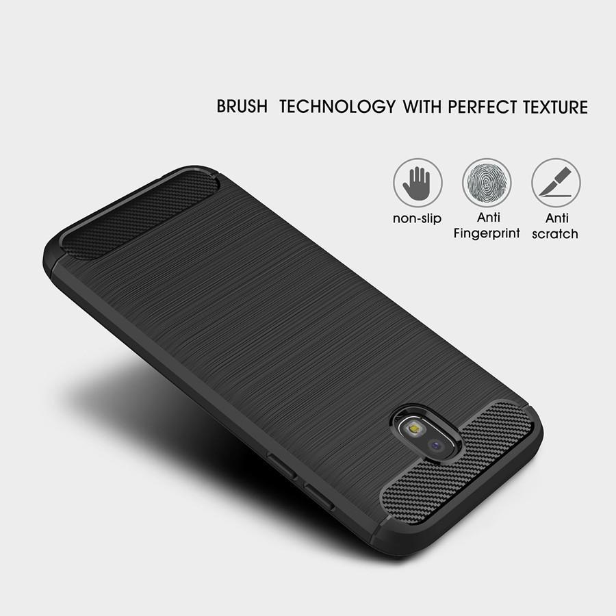 3x Samsung J7 Pro 2017/ J7 2017 Rugged Series Soft Case (Black)