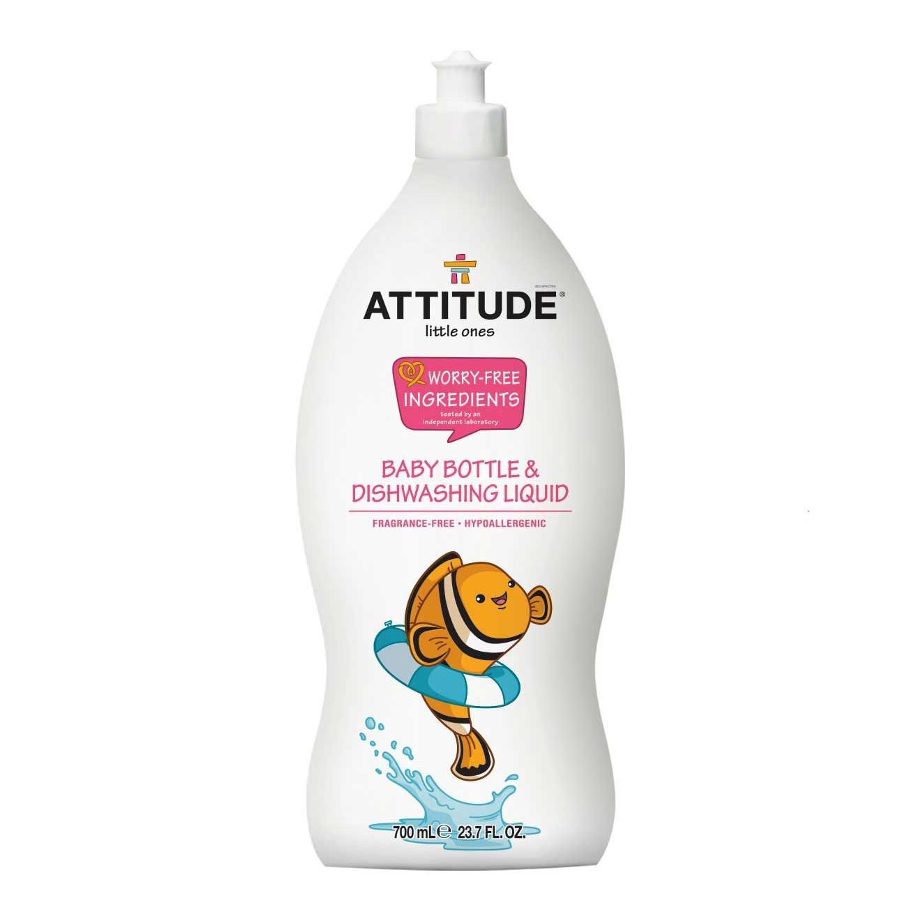 Review Attitude Baby Bottle And Dishwashing Liquid 700Ml Fragrance Free Attitude On Singapore