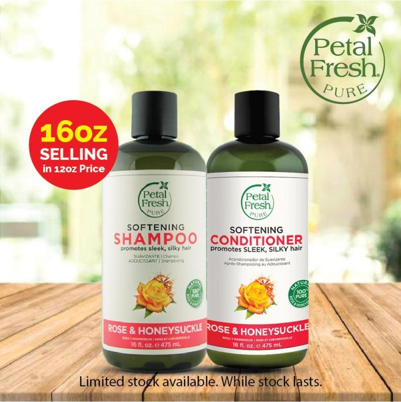 Buy [PETAL FRESH] SOFTENING SHAMPOO & CONDITIONER - ROSE & HONEYSUCKLE (475ML) Singapore
