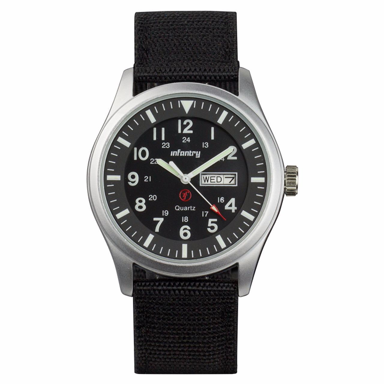 INFANTRY Mens Digital Quartz Wrist Watch Stopwatch Alarm Sport LCD Chronograph(Black)