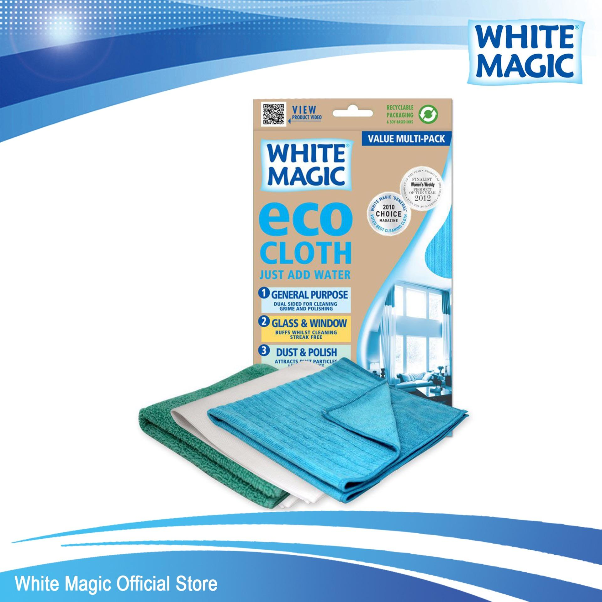Price Comparisons White Magic Microfibre Household Value Pack Eco Cloth 3 Pack
