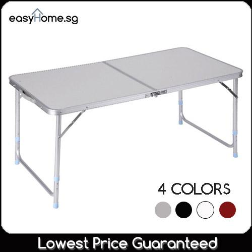 120cm X 60cm Portable Foldable Aluminium Table By Easyhome.sg.