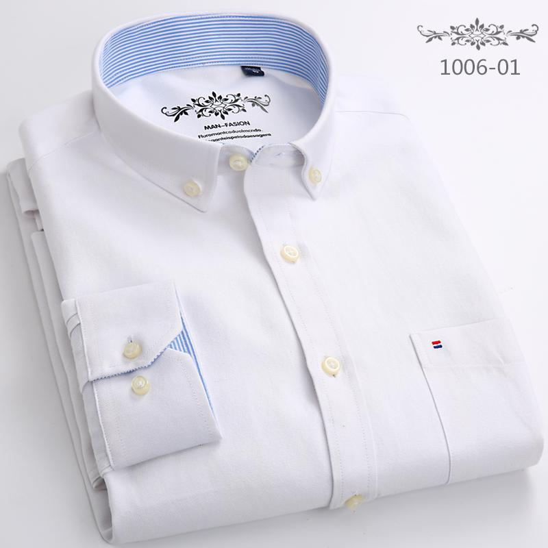 5ec0dbb5454a Antarctic a Autumn Oxford Woven Shirts Male Korean Style Slim Fit Solid  Color Casual Shirt Business