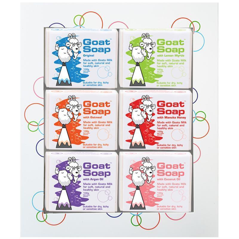Buy Goat Soap 6 Pack Value Gift Set Original, Oatmeal, Lemon Myrtle, Manuka Honey, Argan Oil & Coconut Oil Singapore