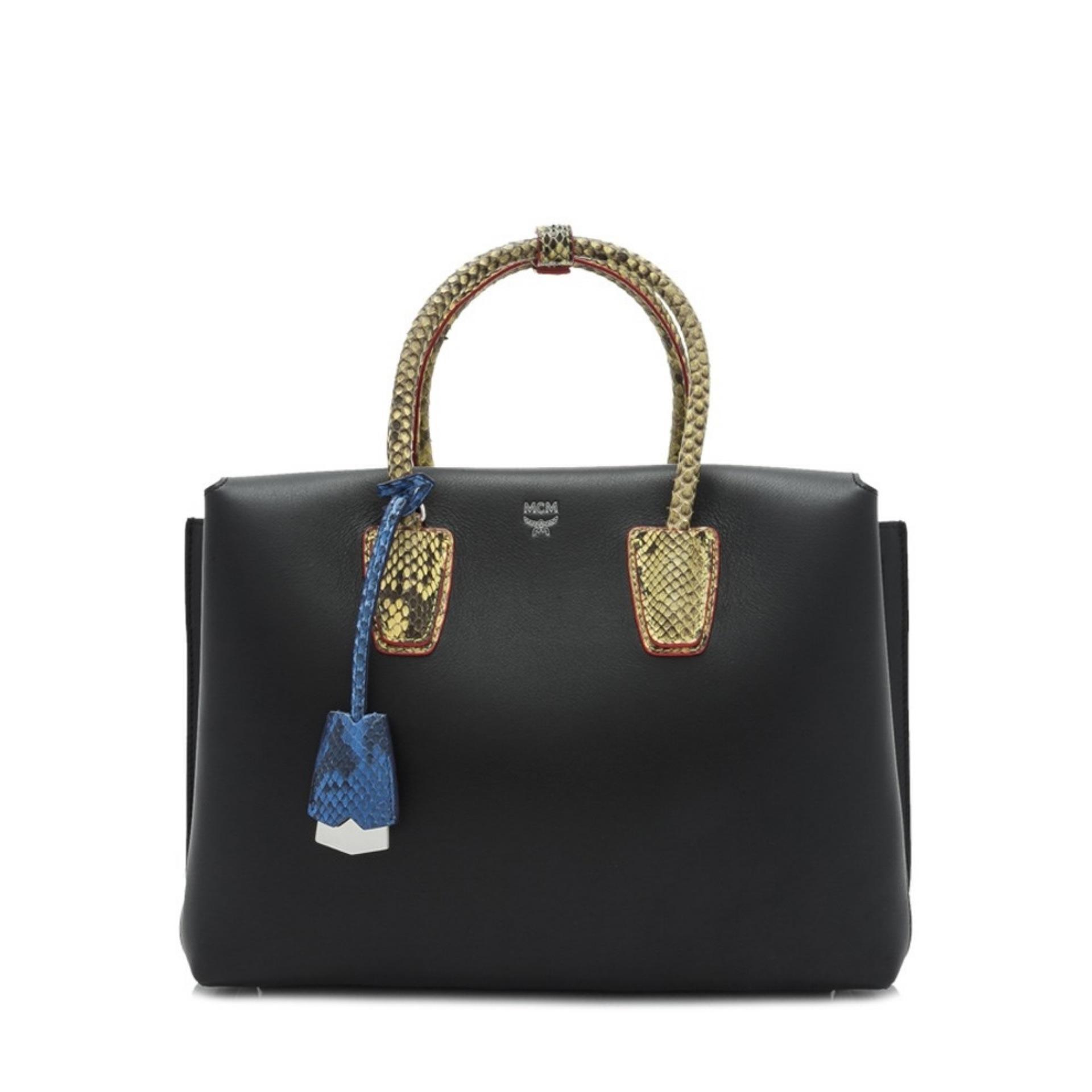 MCM Milla Exotic Tote Bag (Black) # MWT7SMA33BK001
