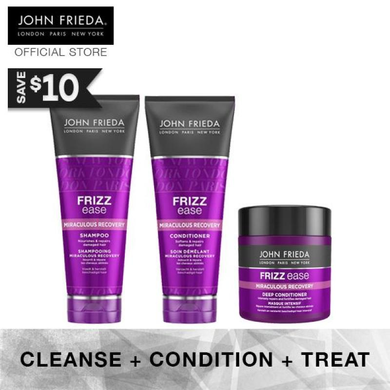 Buy Bundle - John Frieda Frizz Ease Miraculous Recovery Complete Set 2 (+ Deep Conditioner) Singapore