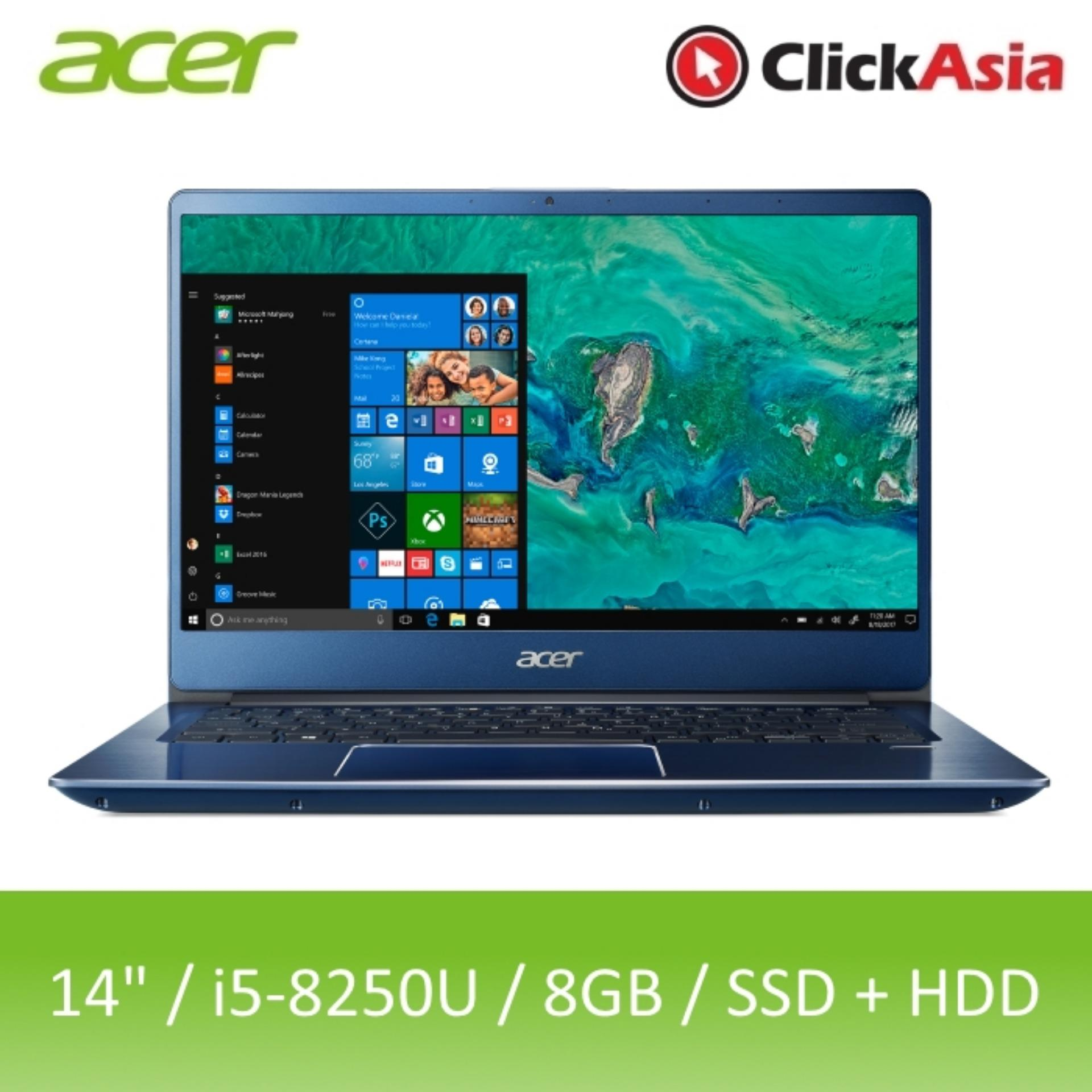 Acer Swift 3 (SF314-54G-5281) - 14 FHD/i5-8250U/2*4GB DDR4/128GB SSD+1TB HDD/Nvidia MX150/W10 (Blue)
