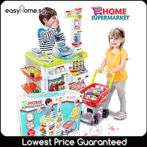 Supermarket With Pushcart Tolley 68805 Red / 66803 Green By Easyhome.sg.