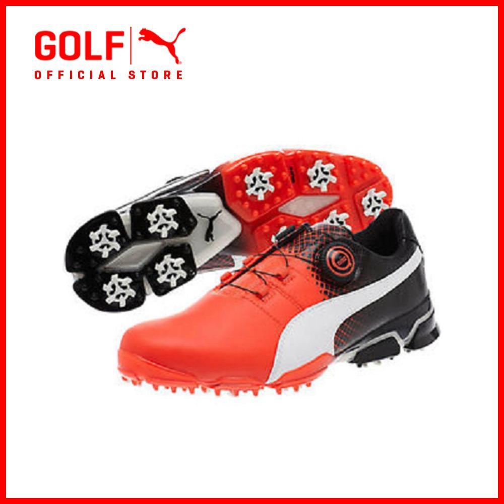Puma Golf Men Titantour Ignite Disc Se Footwear - Red Blast-Puma White-Puma Black By Puma Golf Official Store.