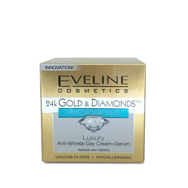 Buy Eveline 24k Gold & Diamonds Anti Wrinkle Day Cream + Serum Singapore