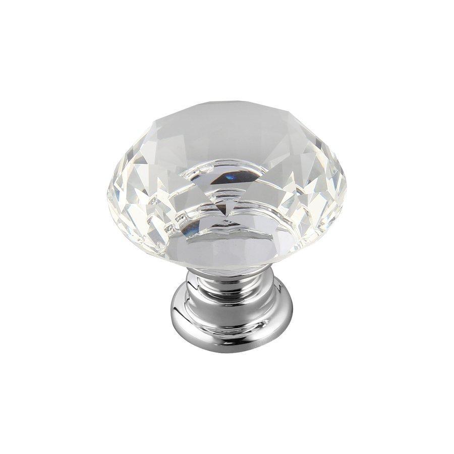 PKPNS 10Pcs 30mm Diamond Shape Crystal Glass Knob Cupboard Drawer Pull Handle New