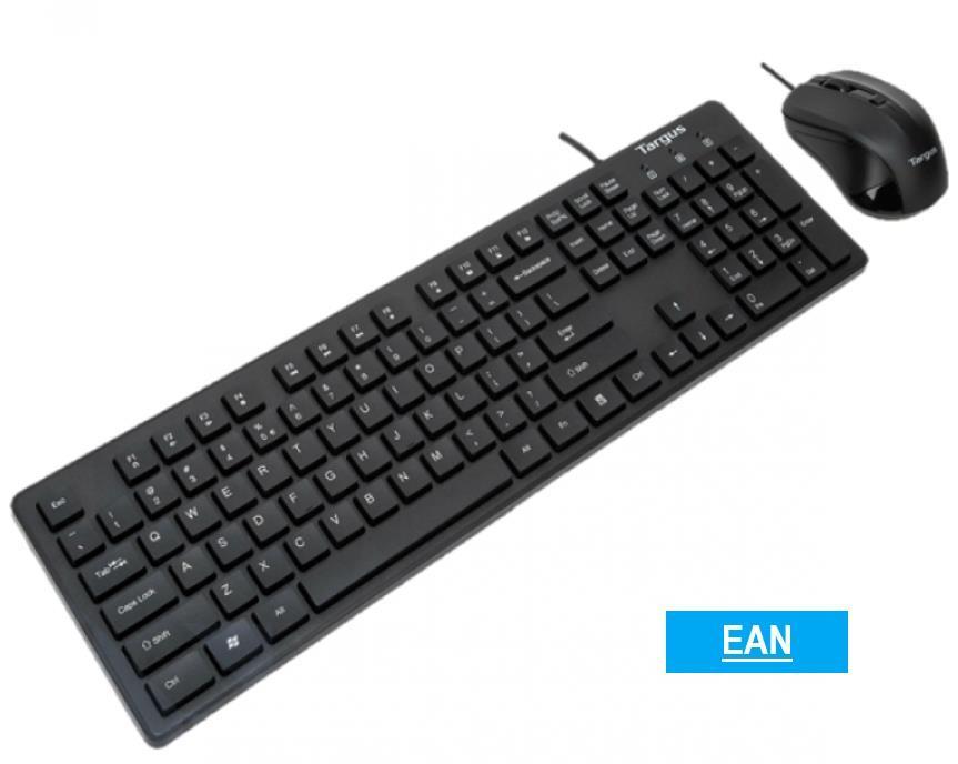 Targus USB Keyboard + Mouse + MOUSE PAD Combo KM200 / KM 200 / KM-200