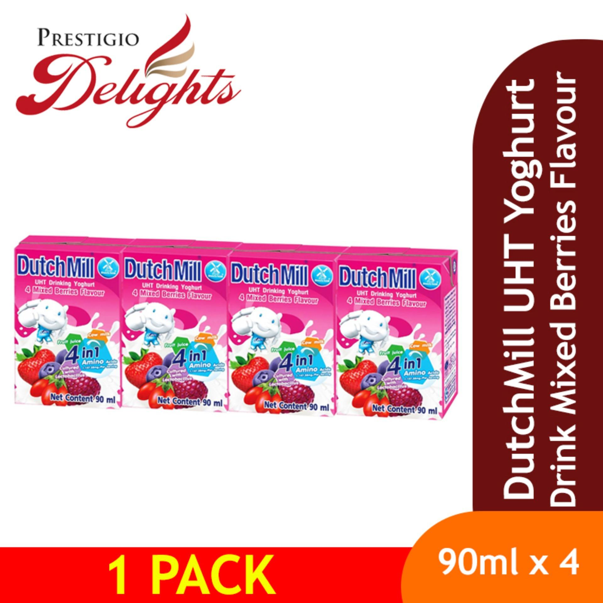 Dutchmill Uht Yoghurt Drink Mixed Berries Flavour By Prestigio Delights.