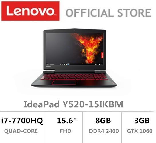 Lenovo IdeaPad Y520 15.6 FHD i7-7700HQ GTX 1060 Black 2 Year Local Warranty
