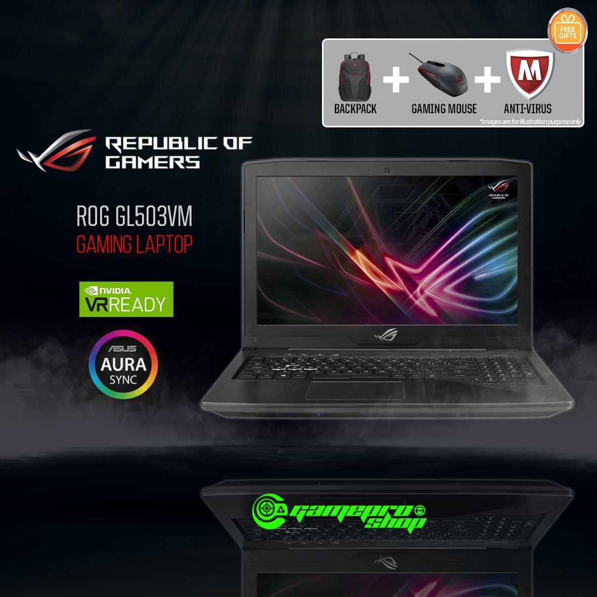 ASUS ROG Strix GL503VM - FY359T (i7-7700HQ/ GTX1060 6GB/ 128GB SSD+ 1TB HDD) 15.6 FHD *COMEX PROMO*