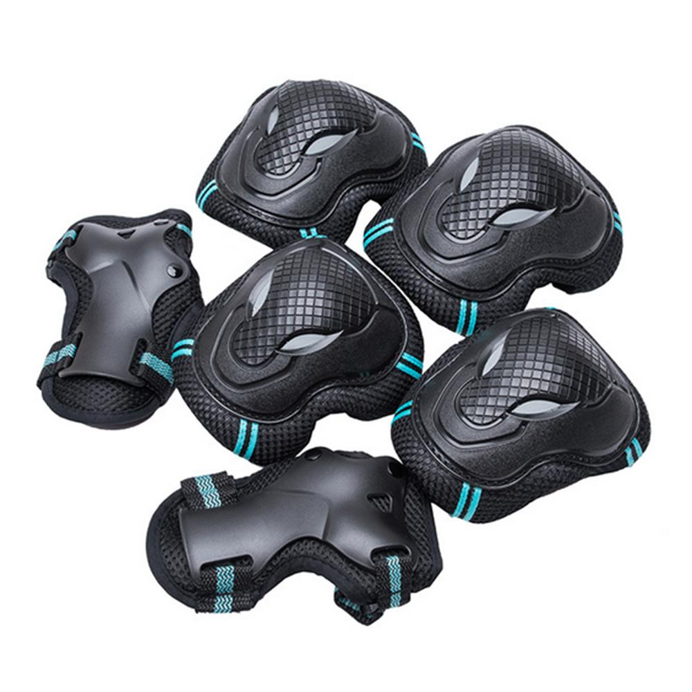 Kit 3 Pair Safety Protective Guard Pads Elbow Knee Palmguard Pads For Cycling Roller Sports Skating Blading Riding Blue By Duha.
