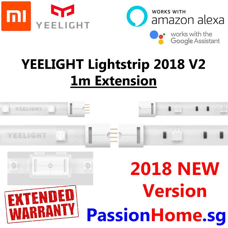 Yeelight Aurora Lightstrip Plus 2018 v2 (1m Extension) Smart Wifi LED Light Strip (16 Million Colours) - (Works with Google Home / Assistant, Amazon Alexa / Echo, IFTTT) - Intelligent Mi Home / Yeelight App - Xiaomi Mijia Home Automation - Passion Home