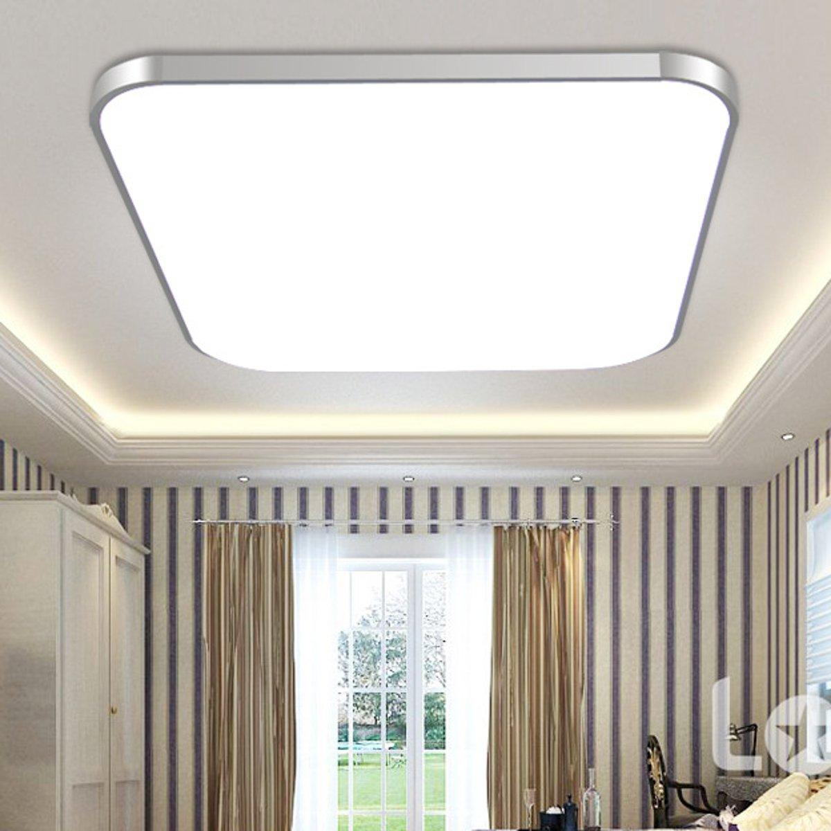 48W LED Square Ceiling Down Light Bedroom Living Room Lamp Surface Mount # White Light 48W- intl