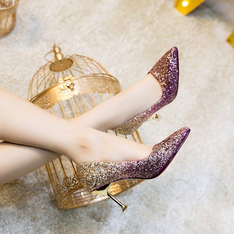 Sequined Bridal Heels By Taobao Collection.