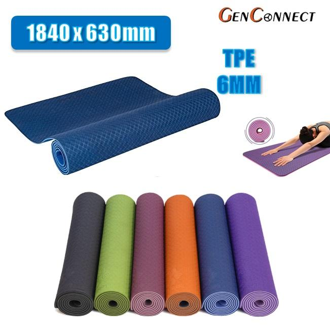 Buy Cheap 48 Hours Delivery Premium Tpe Yoga Mat Non Slipped Fitness Mat Blue