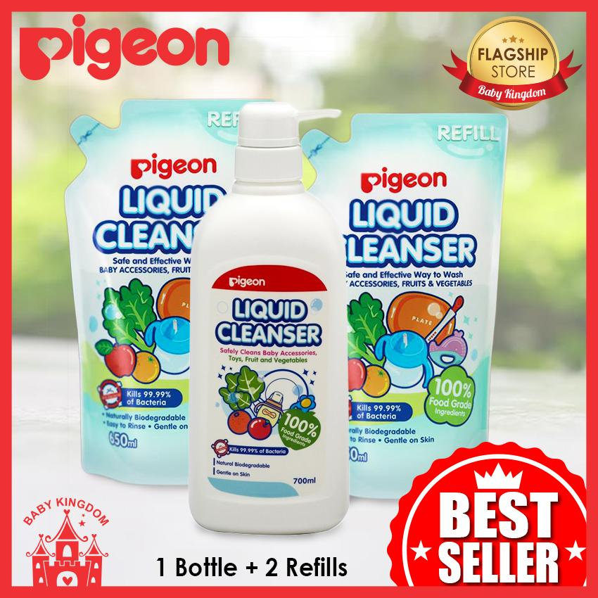 Sale Pigeon Liquid Cleanser Bundle Deal 1 Bottle 2 Refills Pigeon Branded