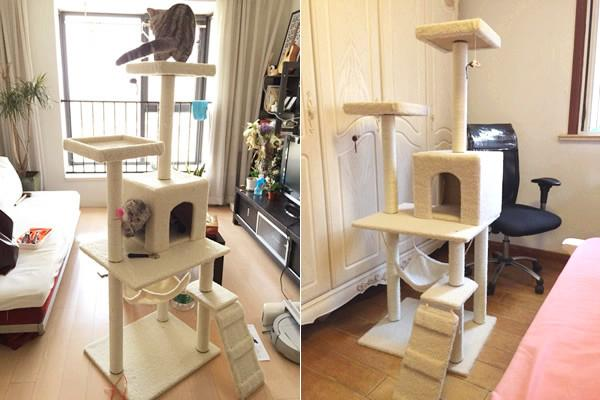 1.5m Cat Scratching Tree/post/condo Beige By The Joy Land.