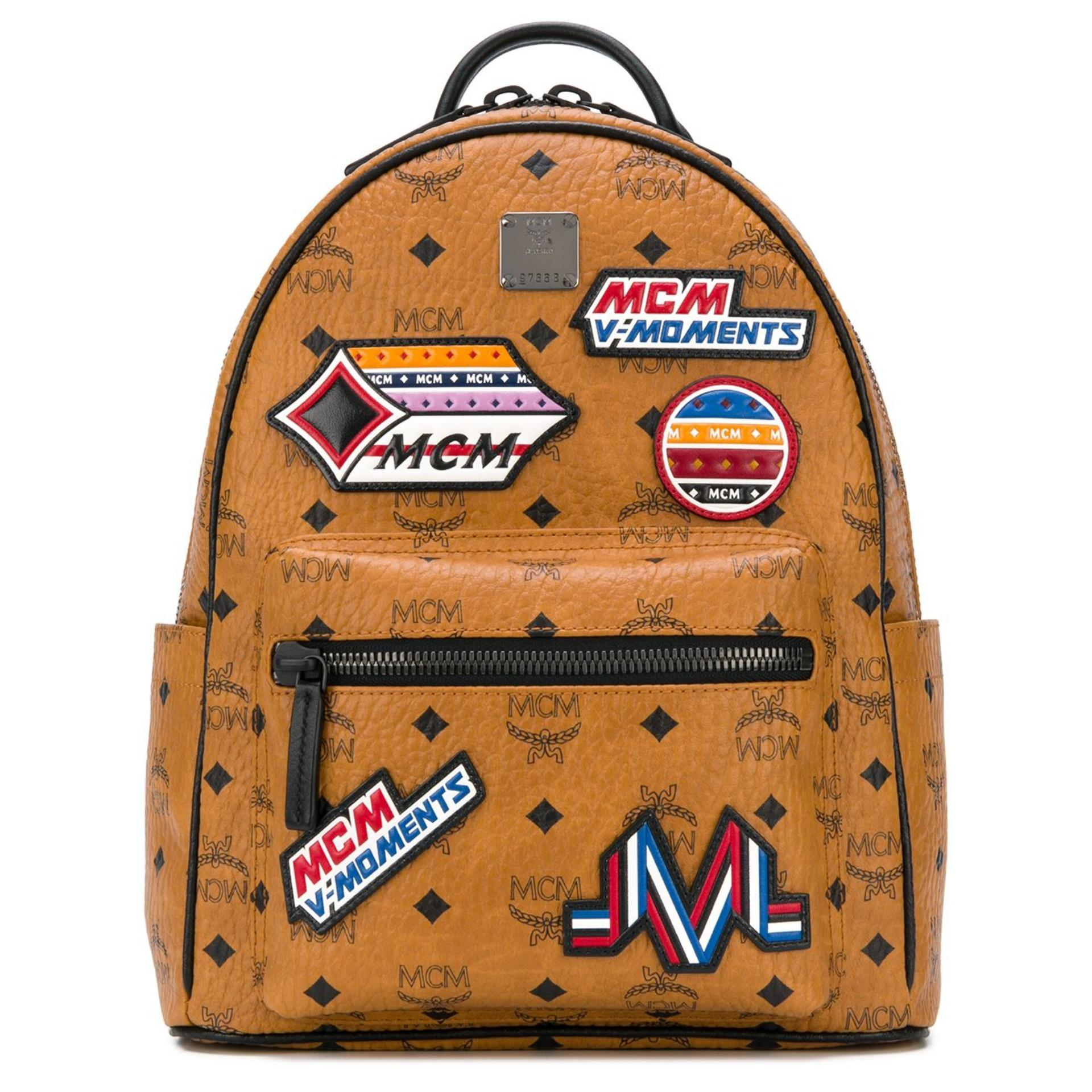 6f0998e6be2b MCM Stark Backpack in Victory Patch Visetos (Cognac) # MMK8SVE35CO001