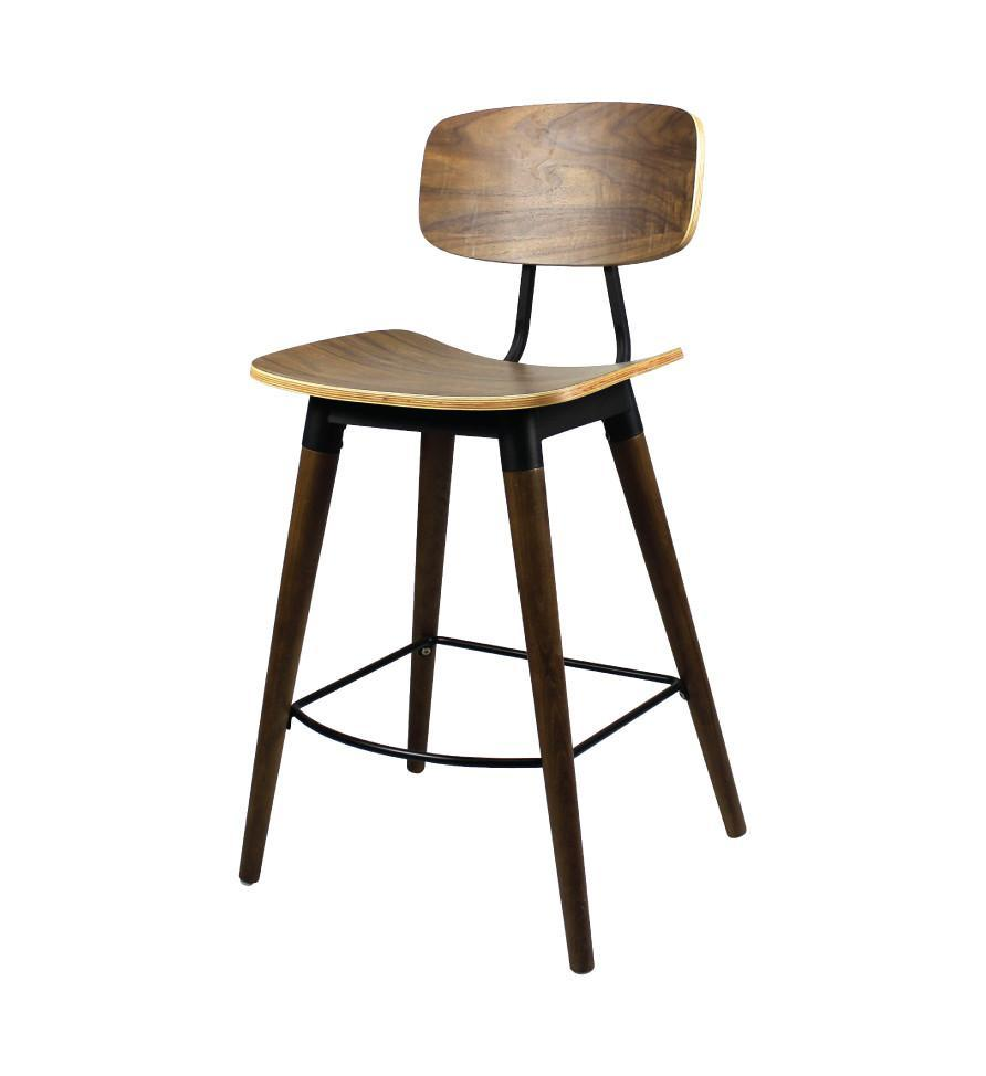 COPINE BAR CHAIR (Black Stain Wood)